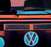 Volkswagen Bus Westfalia Face Round Sticker