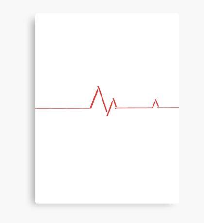 Simplistic Heart Beat Design Canvas Print