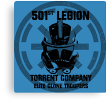 501st clone trooper legion Canvas Print