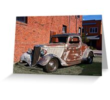1934 Ford 'Patina Plus' Coupe Greeting Card