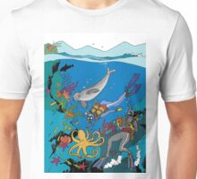 Diving with the seals Unisex T-Shirt