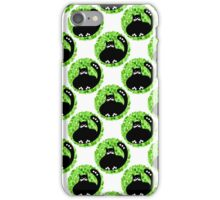 Cartoon seamless pattern with cute black cats iPhone Case/Skin