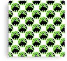 Cartoon seamless pattern with cute black cats Canvas Print