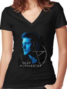 Supernatural - Dean Winchester Women's Fitted V-Neck T-Shirt