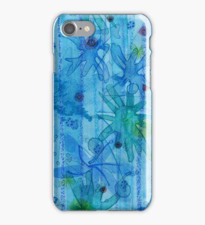 blue anemones iPhone Case/Skin