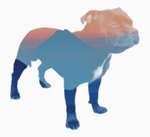 Double Exposure Dog One Piece - Short Sleeve
