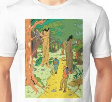 Walking through the forest Unisex T-Shirt