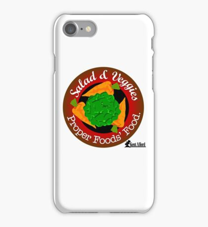 Salad and Vegetables vs Meat iPhone Case/Skin
