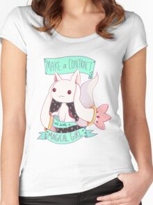 Become a Magical Girl Women's Fitted Scoop T-Shirt