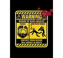 Mjolnir Warning Label Photographic Print