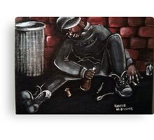 He Just Keeps on Wasting Time... Canvas Print