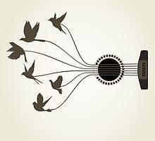 Bird a guitar by Aleksander1