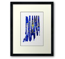 Indiana Typographic Map Flag Framed Print
