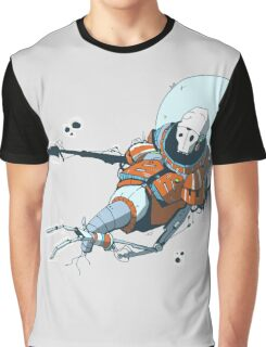 Dead astronaut in space, colored Graphic T-Shirt