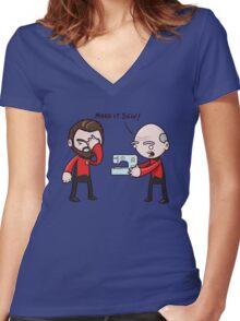 Make It Sew! - Star Trek Inspired Women's Fitted V-Neck T-Shirt