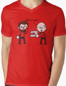Make It Sew! - Star Trek Inspired Mens V-Neck T-Shirt