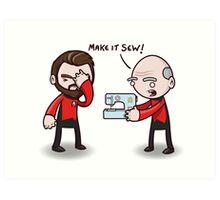Make It Sew! - Star Trek Inspired Art Print