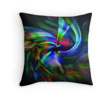 Swirl 2 - green, blue, pink Throw Pillow