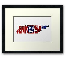 Tennessee Typographic Map Flag Framed Print