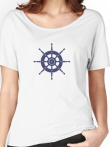 AFE Nautical Navy Helm Wheel Women's Relaxed Fit T-Shirt