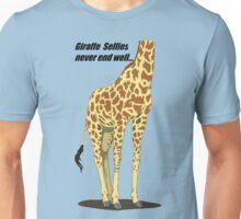 Giraffe Selfies Never End Well Unisex T-Shirt