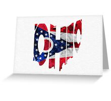 Ohio Typographic Map Flag Greeting Card