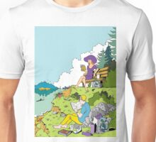 Reading with a view  Unisex T-Shirt