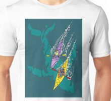 Kayaking over Whales Unisex T-Shirt