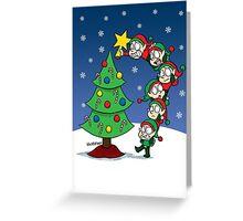 Elf Stack Greeting Card