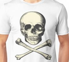 Vintage Skull and Crossbones. So scary! Unisex T-Shirt