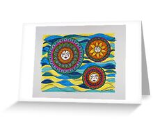 Sun Faces/8 - Waves Greeting Card