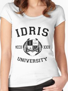 Idris University 1- Black Women's Fitted Scoop T-Shirt