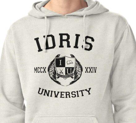 Idris University 1- Black Pullover Hoodie