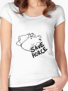 Save Horce  Women's Fitted Scoop T-Shirt
