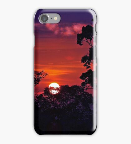 LOOK TO THE BORNEO JUNGLE SUNSET iPhone Case/Skin