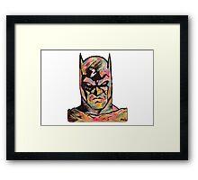 Rainbow Batman! Framed Print