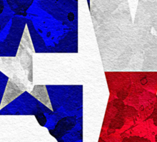Texas Typographic Map Flag Sticker