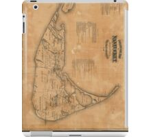 Vintage Map of Nantucket (1869) iPad Case/Skin