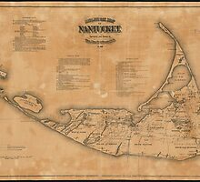 Vintage Map of Nantucket (1869) by BravuraMedia