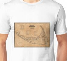 Vintage Map of Nantucket (1869) Unisex T-Shirt