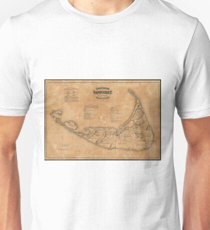 Vintage Map of Nantucket (1869) Unisex T-Shirt