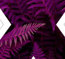X purple fern Sticker