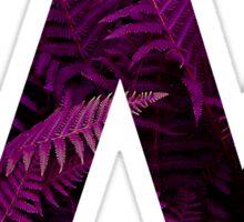 W purple fern Sticker