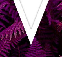 V purple fern Sticker