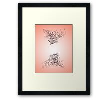 Peach Ravens Framed Print