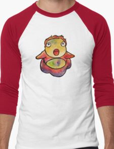 Cute Ponyo! Studio Ghibli Men's Baseball ¾ T-Shirt