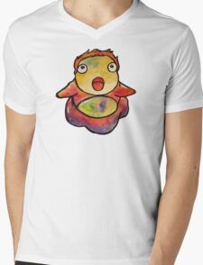 Cute Ponyo! Studio Ghibli Mens V-Neck T-Shirt