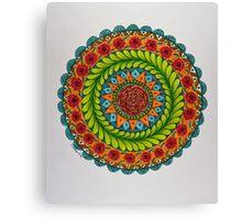 Mandala Flowers Canvas Print