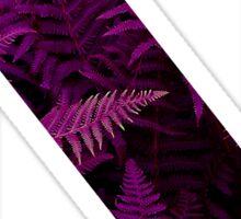 N purple fern Sticker