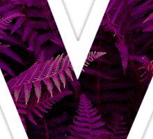 M purple fern Sticker